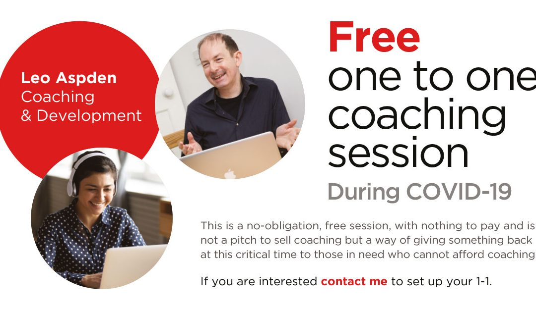 Free 1-1 Coaching Session during COVID-19